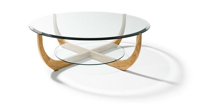 Juwel coffee table pepper design - Table basse verre et bois ...